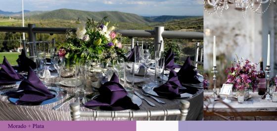 decoracion plata bodas