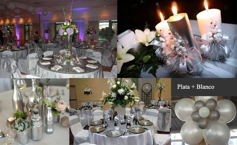 plata bodas decoracion mesas boda
