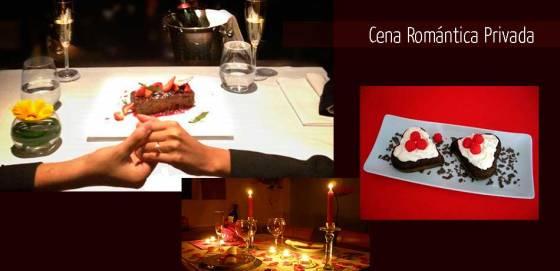 cena romantica en san valentin