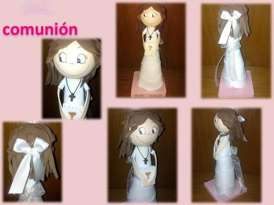 muñecas goma eva para comunion