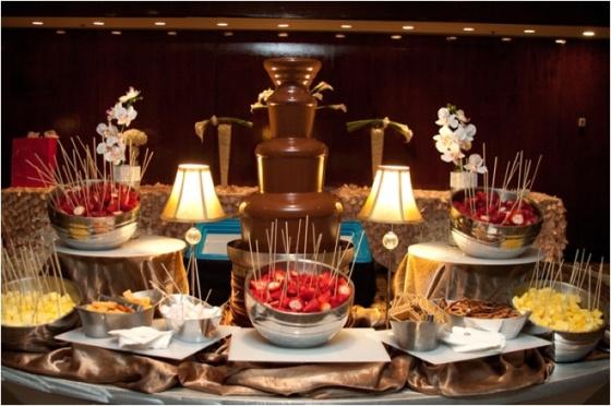fuentes de chocolate mesas de dulces bodas eventos