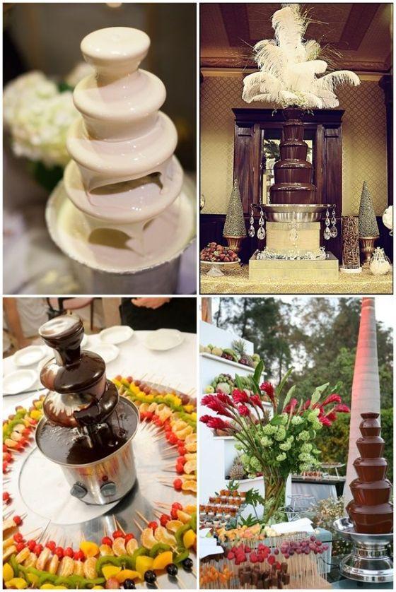 fuentes de chocolate para bodas y eventos