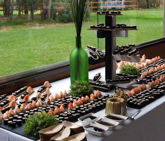mesa de sushi para bodas eventos catetring