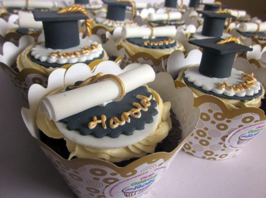 Cupcakes para graduaciones