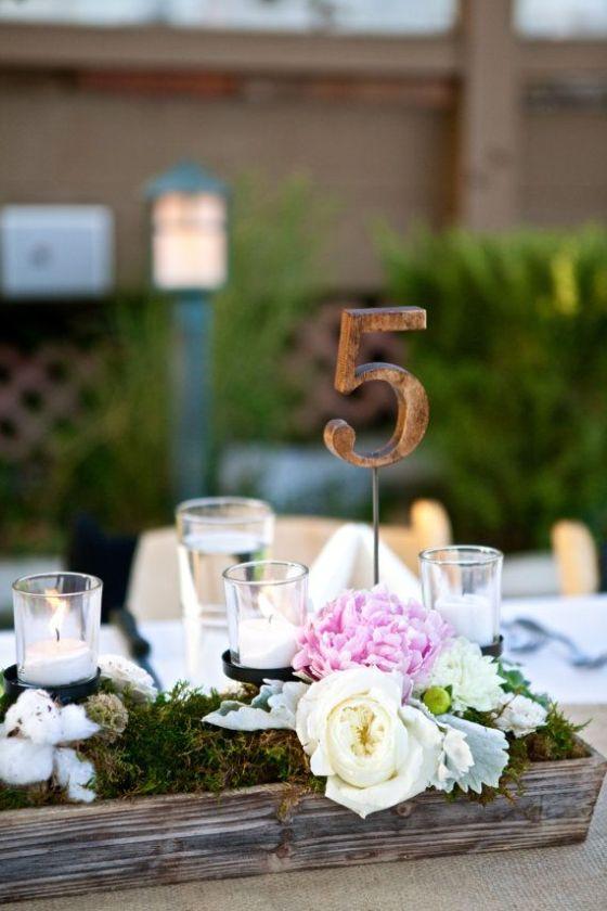 detalle decoracion mesa banquete al aire libre