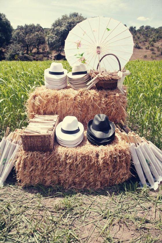 detalles para invitados de una boda al aire libre