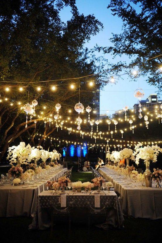 decoracion banquete noche al aire libre