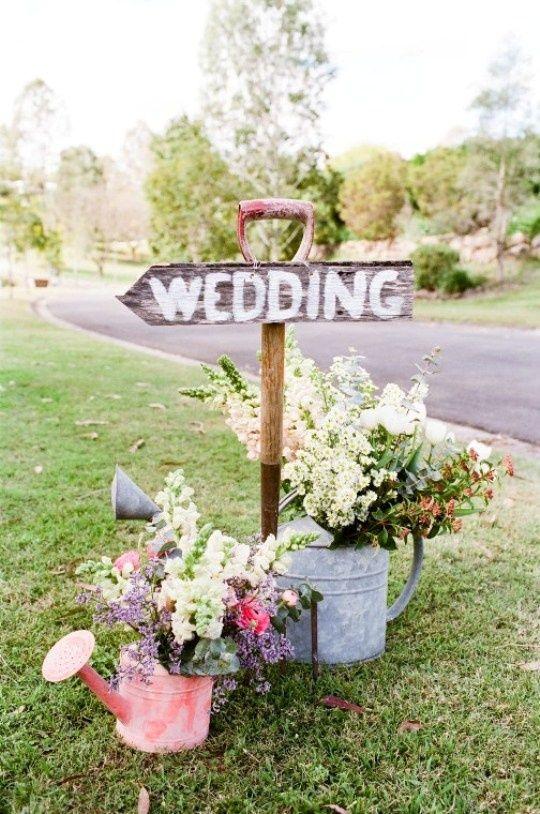 Carteles decorativos para bodas al aire libre