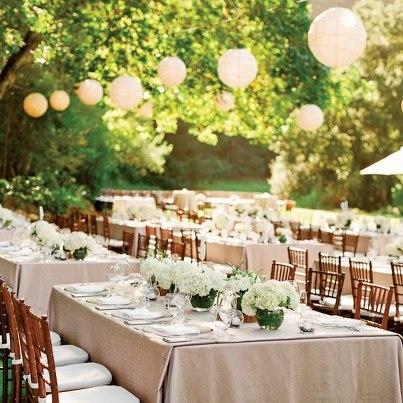 decoracion banquete al aire libre