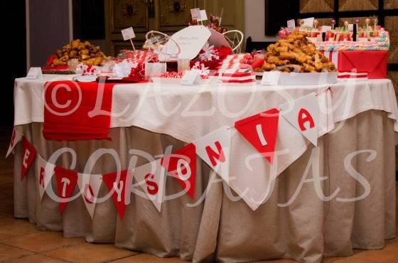 mesa de dulces y chucherias Lazos y Corbatas bodas