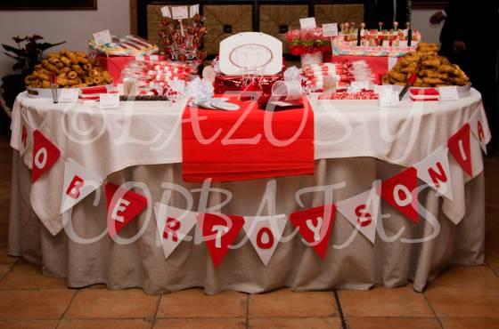 mesa de dulces temática Lazos y Corbatas bodas
