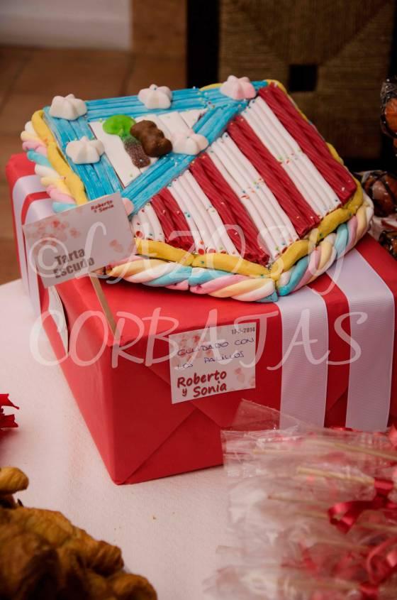 tartas de chucherias mesas de dulces Lazos y Corbatas