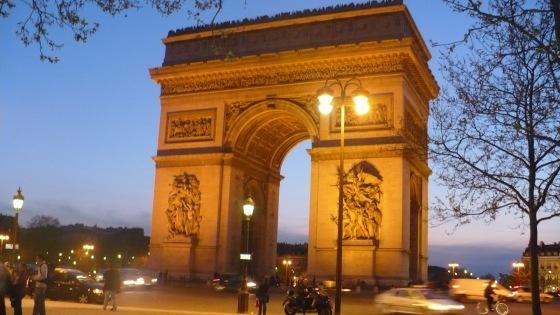 Arco del Triunfo paris viaje de novios