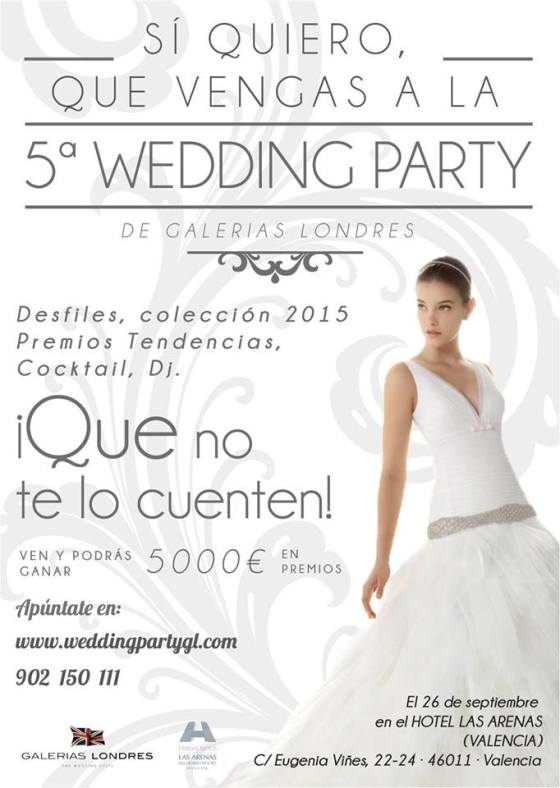 wedding party galerias londres organizacion de bodas