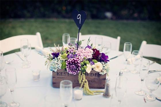 decoracion para bodas centros con cajas de madera decoracion rustica