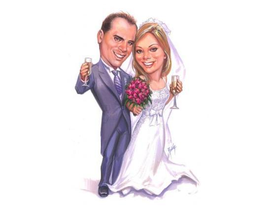 Caricatura boda