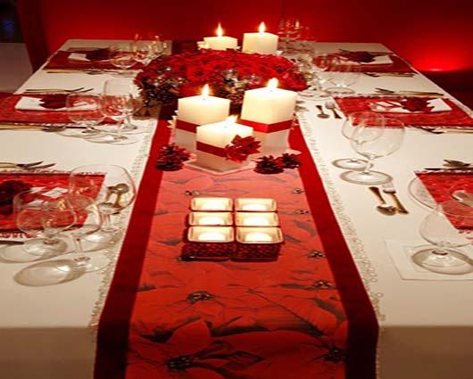 Decoración mesas navideñas